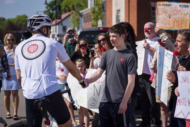 Meet the 13-year-old who helped inspire Matt Lauer's Red Nose Day ride